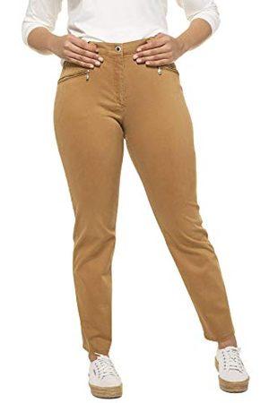 Ulla Popken Zachte stretchbroek voor dames, grote maten, zachte stretchbroek, soft peach mony broek.