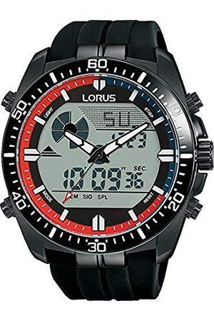 Lorus Heren Horloges - Sport herenhorloge chronograaf roestvrij staal met siliconen band R2B05AX9