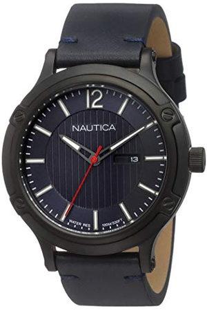 Nautica Heren Armbanden - Analoog kwartshorloge voor heren, met leren armband NAPPRH017