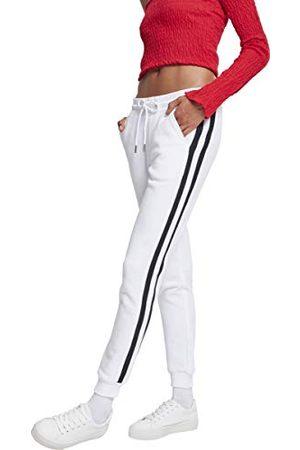 Urban classics Dames Ladies College Contrast Sweatpants broek,Mehrfarbig (White/Black/White 01555),34W (Fabrikant maat:5XL)