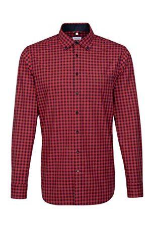 Seidensticker Heren Tops - Zijdestickers heren hemd met button-down-kraag