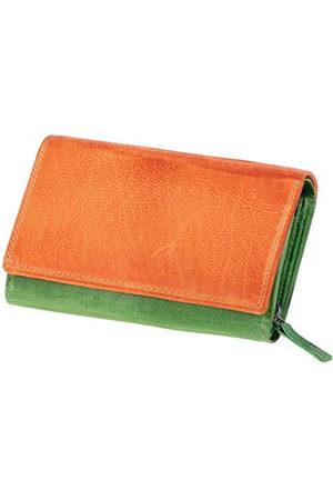 Mika 42186 - damesportemonnee van echt leer, portemonnee in liggend formaat, portemonnee met 12 kaartvakken, bankbiljettenvak met ritssluiting, - , ca. 15,5 x 10 x 4 cm.