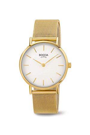Boccia Dames Horloges - Analoog kwarts horloge met roestvrij stalen armband 3281-06