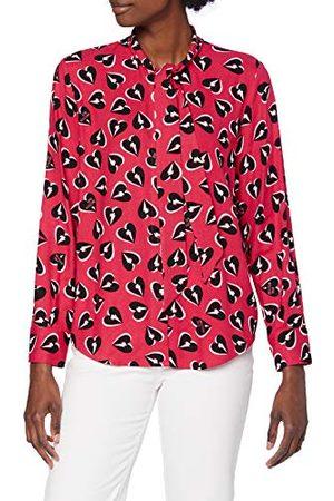 Moschino Love Allover Thunder Hearts shirt met lange mouwen voor dames