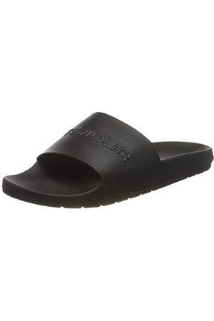 Under Armour Unisex Adults Core Remix Beach & Pool Shoes, Black (Black/Black/Metallic Victory Gold (002) 002), 6 UK
