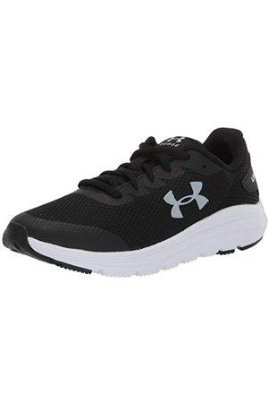 Under Armour Unisex Kids Grade School Surge 2 Road Running Shoe, Black White Mod Gray 001, 4.5 UK