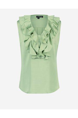 LaDress Dames Blouses - Kleding Blouses & tunieken Blouses Blanche Mouwloze satijnen blouse