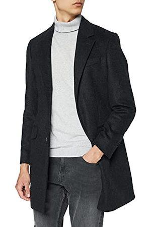 Hackett Heren PLAIN WOOL CASH Jacket, 987CHARCOAL, 50