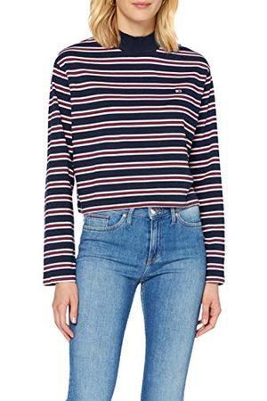 Tommy Hilfiger Vrouwen Tjw gestreept hybride longsleeve shirt