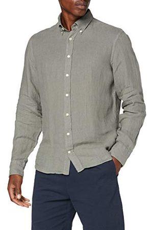 Hackett Garment Dye Ln Bs Hackett Zakelijk overhemd voor heren, Garment Dye Ln Bs