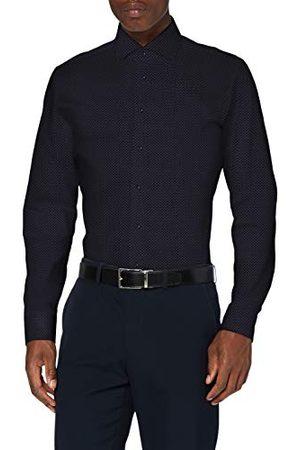 Seidensticker Zakelijk overhemd voor heren, gemakkelijk te strijken, smal overhemd, slim fit, lange mouwen, Kent kraag, 100% katoen