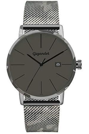 Gigandet G42-016 Analoog kwartshorloge voor heren, met roestvrijstalen armband
