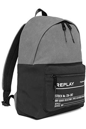 Replay Heren FM3504 rugzak handtas, 1447 Black Mouse Grey, UNIC