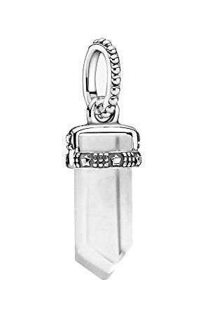 PANDORA Colours witte amulet hanger van sterling zilver/grootte: 1,75cm