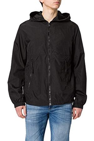 Urban classics Heren Full Zip Nylon Crepe Jacket Jacket Jacket