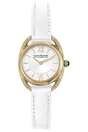 Saint Honore Saint-Honoré kwartshorloge voor dames saffierglas lederen armband wit polshorloge Made in France 7210263AIT-W