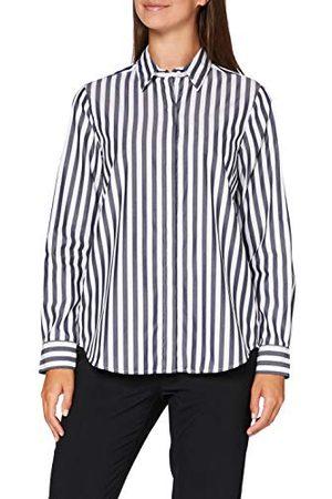 Seidensticker Damesblouse – modieuze blouse – lichte hemdblouse met hemdblousekraag – regular fit – lange mouwen – 100% katoen