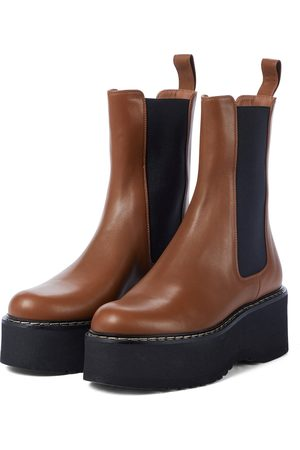PARIS TEXAS Exclusive to Mytheresa – Leather platform Chelsea boots