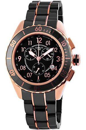 Cerruti 1881 Cerruti dames analoog kwarts horloge met keramische armband CRA079Z271H
