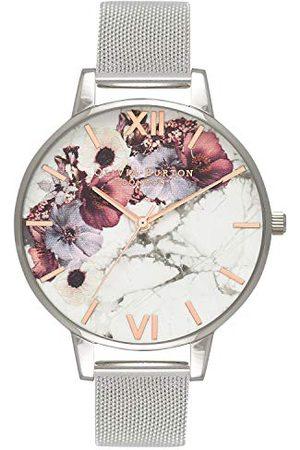 Olivia Burton Dames Analoog Quartz Horloge Met Roestvrij Stalen Band, OB16MF09