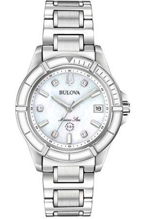 BULOVA Dames analoog kwarts horloge met roestvrij stalen armband 96P201
