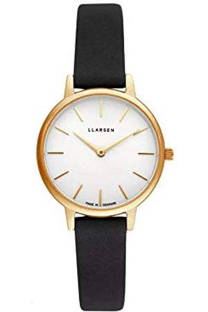 LLARSEN Dames analoog kwarts horloge met lederen armband 146GWG3-GCOAL12