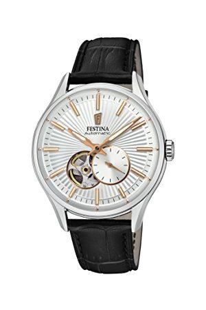 Festina F16975/1 Automatisch herenhorloge met leren armband