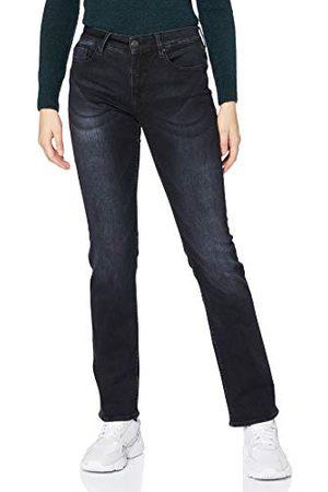 Herrlicher Prachtige dames Super G Straight Reused Denim Black Jeans