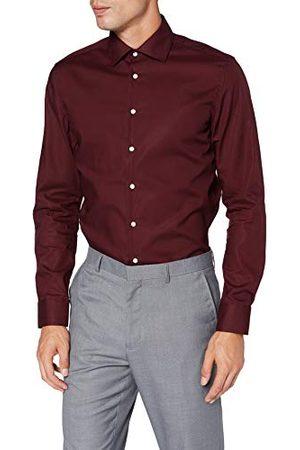 Seidensticker Zakelijk overhemd voor heren, strijkvrij, smal overhemd, slim fit, lange mouwen, Kent kraag, 100% katoen