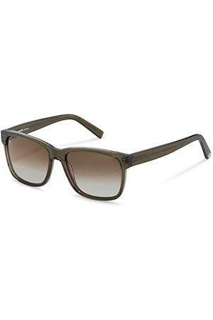 Rodenstock Zonnebril Youngline Sun RR339 (heren), lichtgewicht zonnebril casual stijl, vierkante zonnebril met acetaat kunststof montuur.