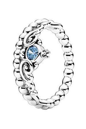PANDORA Disney Cinderella blauwe tiara ring sterling 52