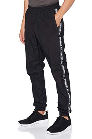 STARTER BLACK LABEL Joggingbroek voor heren, met logo-taping, zwarte joggingbroek, trainingsbroek effen, elastische band en zoom, maat S tot XXL