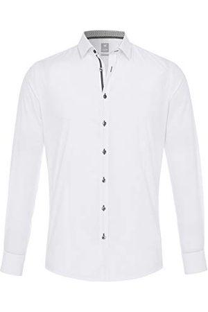 Pure Heren 4014-196 City Silver lange mouwen klassiek overhemd, effen , XL