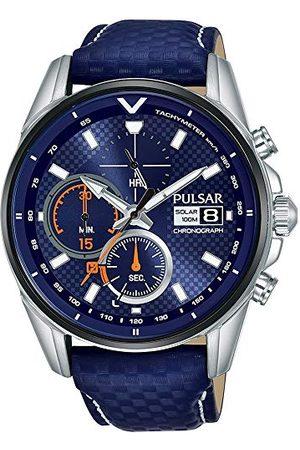 Seiko Pulsar herenhorloge, analoog, kwarts, met leren armband 1