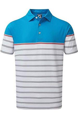 FootJoy Stretch Lisle Colour Block Stripe Poloshirt voor heren - - Medium