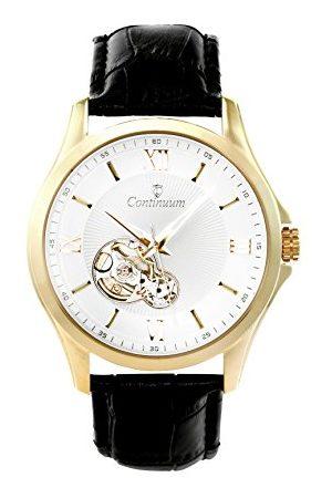 Continuum Horloge automatisch horloge polshorloge goud voor mannen mannen analoog herenhorloge mannenhorloge met leren armband waterdicht klassiek elegant wijzerplaat C15H25