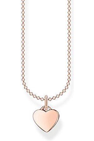 Thomas Sabo Dames halsketting hart rosé 925 sterling zilver, 38-45 cm lengte