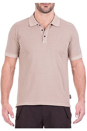 Jeep O100966-M113-S heren poloshirt, vintage effect, almond, S