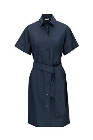 Seidensticker Dames blousejurk Midi - gemakkelijk te strijken blousejurk met hemdblousekraag - regular fit - lange mouwen - 100% katoen