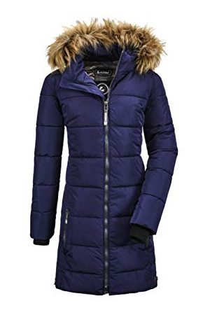 Killtec Bantry Grls Quilted Ct Parka in dons-look met afritsbare capuchon