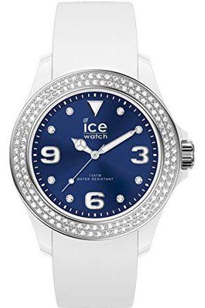Ice-Watch ICE star White deep blue - dameshorloge met siliconen armband - 017235 (Maat M)