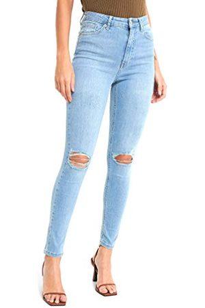 NA-KD Vrouwen Skinny hoge taille vernietigde jeans