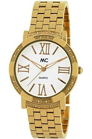 MC Dames analoog kwarts horloge met messing armband 51511