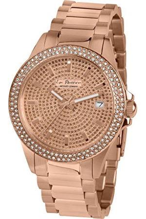 Jacques Lemans Dames analoog kwarts horloge met roestvrij staal gecoat armband LP-129B