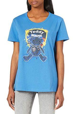 Blauer Blauwe T-shirt, korte mouwen, voor dames