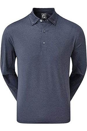 FootJoy Houndstooth Print Long Sleeved Stretch poloshirt voor heren - - X-Large