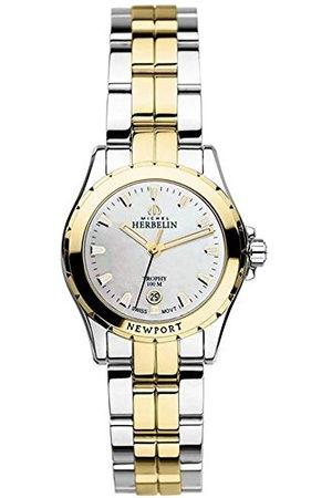 Michel Herbelin Dames analoog kwarts horloge met roestvrij stalen armband 12870/BT19
