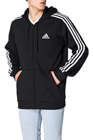 adidas M 3S FL FZ HD sportjack, zwart, S Men