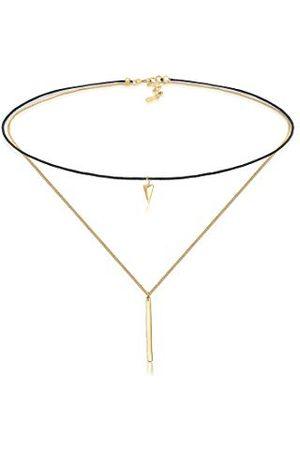 Elli Halsketting Halsketting Choker Driehoek Geo Minimaal Layer Trend 925 Sterling Zilver