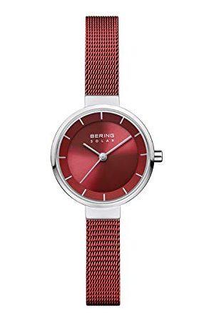 Bering Dames Analoog Zonne-Horloge Met Roestvrij Stalen Armband 14627-303